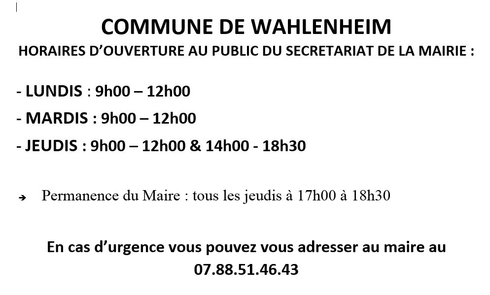 horaires082020